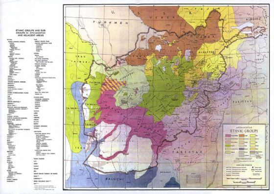 CIA Map of Afghanistan Ethnic Groups 2005 Print/Poster (5430)